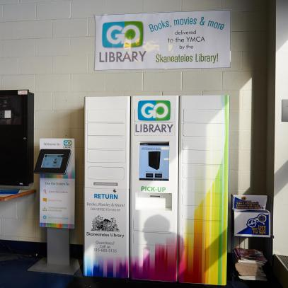 GoLibrary locker and kiosk